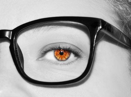 A beautiful insightful look womans eye. Close up shot Stok Fotoğraf