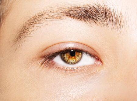 A beautiful insightful look man's eye. Close up shot