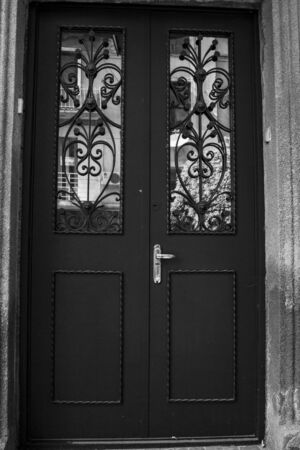 Old Tbilisi architecture,The entrance door  and exterior decor in summer day. Imagens - 150550359