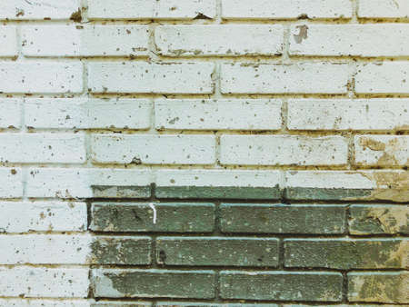 Brick wall. Architecture. Gray and white stone. Brick building. Imagens