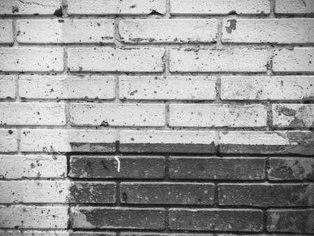 Brick wall. Architecture. Gray and white stone. Brick building. Imagens