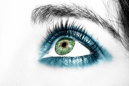A beautiful insightful look woman eye. Close up shot. Stok Fotoğraf