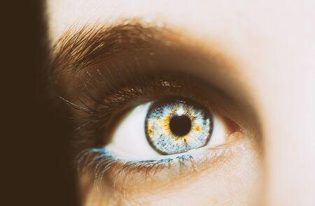 A beautiful insightful look eye. Close up shot. Фото со стока