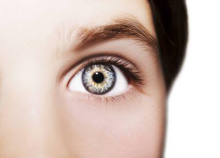 Ein wunderschönes aufschlussreiches Auge. Nahaufnahme.