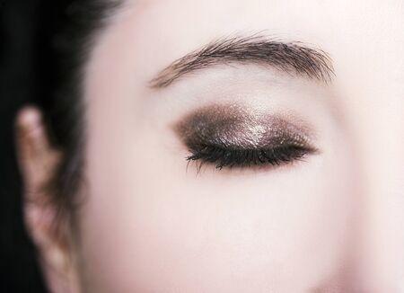 A beautiful insightful look woman eye. Close up shot. 版權商用圖片