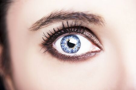 A beautiful insightful look woman eye. Close up shot.