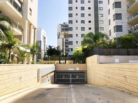 RISHON LE ZION, ISRAEL  October 07, 2019: Residential building underground garage  in Rishon Le Zion, Israel.