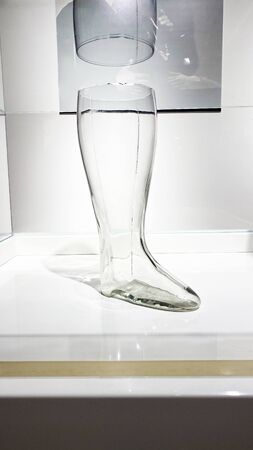 Glass leg that participated in beer advertising in Lviv