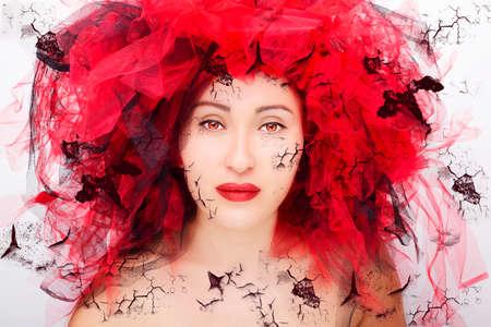 Portrait of beautiful young woman. Fashion photo Imagens