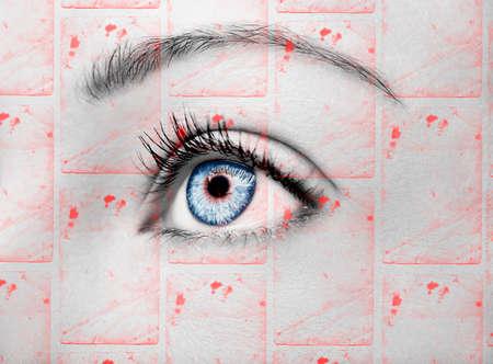 A beautiful insightful look woman's eye