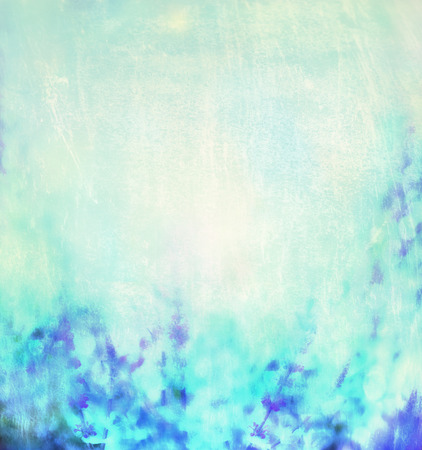 abstract floral: Blue turquoise blurred nature background