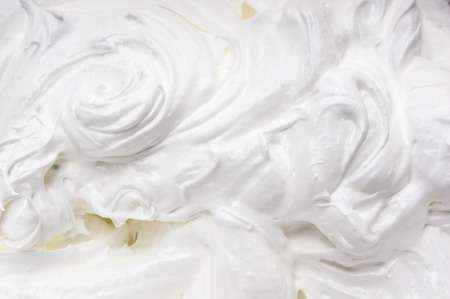 whipped cream background Stock Photo