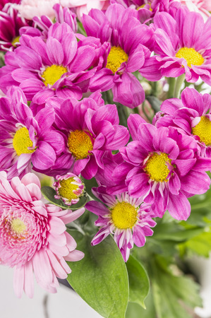 flower bunch: Flower bunch with pink chrysanthemum, close up