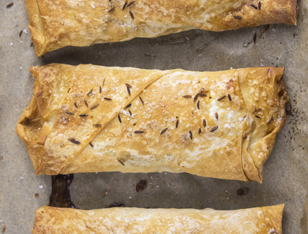 yufka: baked puff pastry pies with filoteig