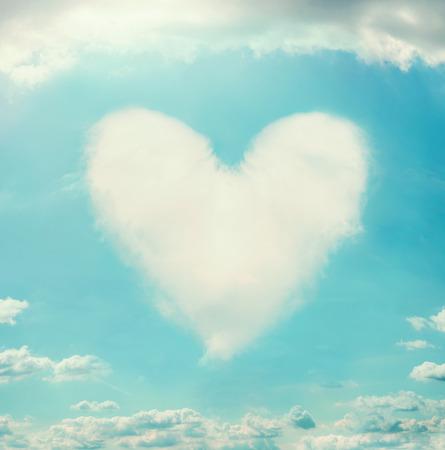 shaped: Beautiful sky with clouds shaped heart