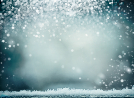 Wonderful winter background with snow. Winter holidays and Christmas concept