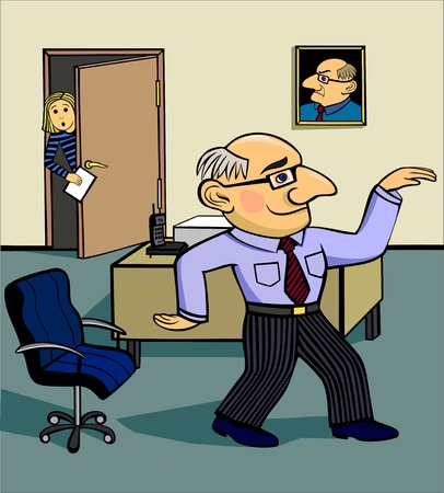 unexpectedness: The chief dances at office