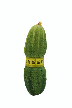 cucumber diet thin waist metaphor Stock Photo