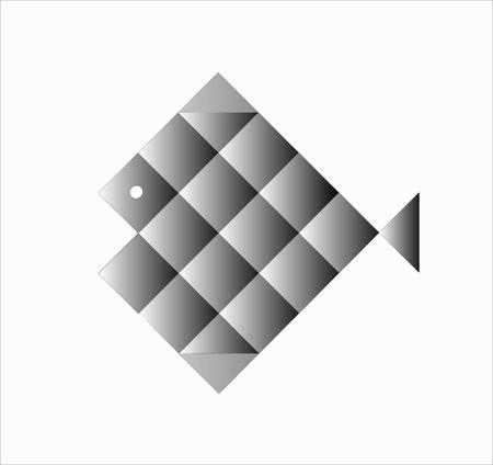 logo poisson: gris logo de poisson Illustration