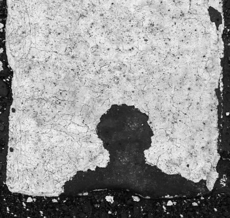 human head silhouette black on white background Reklamní fotografie
