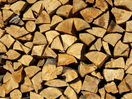 firewood background yellow