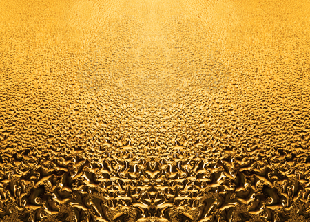 golden patterned glass with gradient