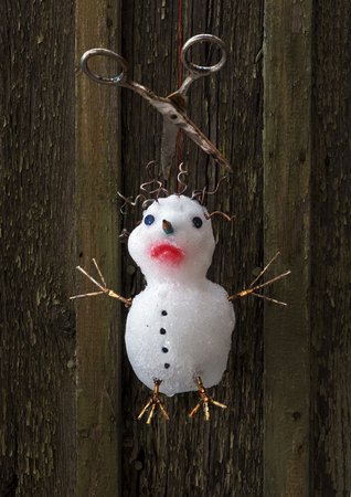 the snowman is sad hung up