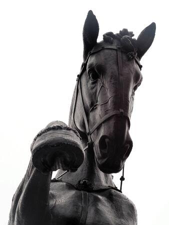 horse sculpture bronze bottom view