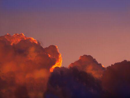 sunset sky clouds Reklamní fotografie