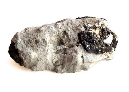 meteorite on a white background Reklamní fotografie