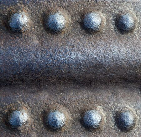 rusty metal background with rivets in the form of a frame Reklamní fotografie