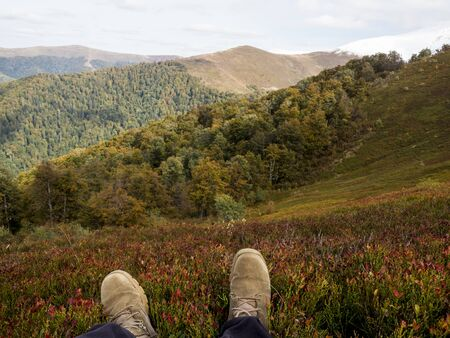 hiking mountains landscape