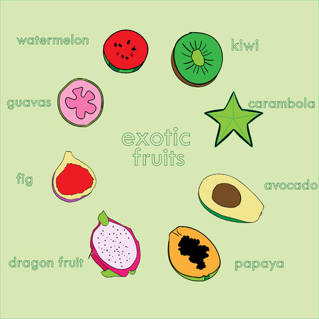 exotic fruits: exotic fruits