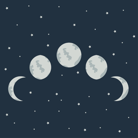 moon phases: Vector moon phases