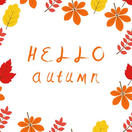 seamless background: Hello Autumn seamless background