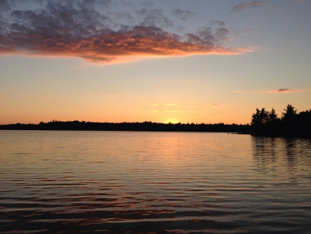 Beautiful sunset in cottage country