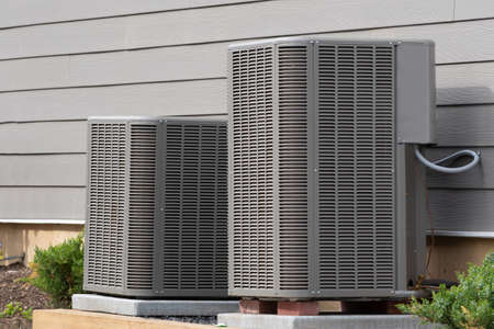 residential central air conditioning unit large many electrig