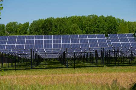 Solar panel energy technology industry ozone sunny Stock fotó