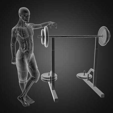 human radiography scan in gym room Stock Photo - 12265415