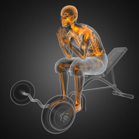 radiografia scansione umana in palestra Archivio Fotografico