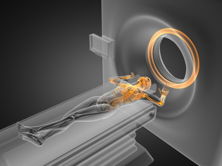 MRI examination made in 3D graphics Stock Photo - 12265417