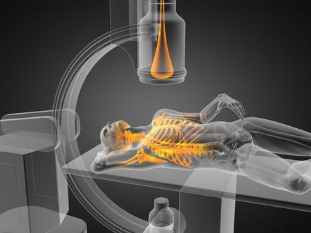 x-ray esame effettuato in grafica 3D Archivio Fotografico