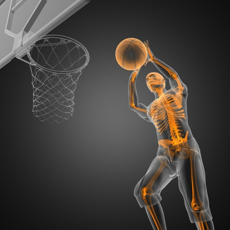basketball game player made in 3D Stock Photo - 12265343