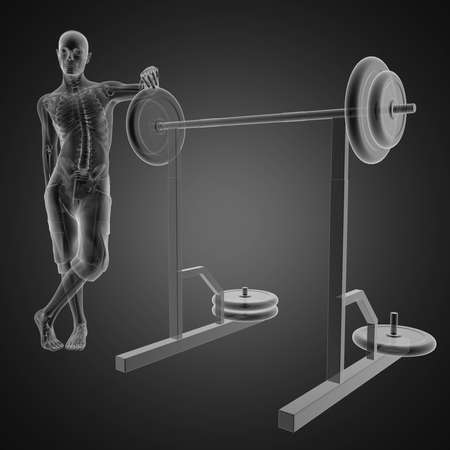 human radiography scan in gym room Stock Photo - 12601795