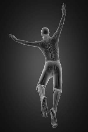 jump man radiography made in 3D photo