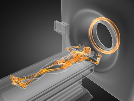 MRI examination made in 3D graphics Stock Photo - 12601815