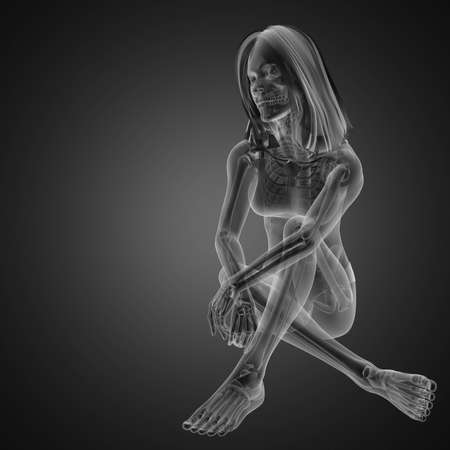 cute woman radiography made in 3D graphics Stock Photo - 12602219
