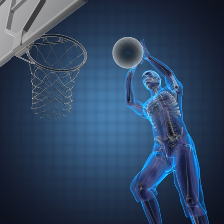basketball game player made in 3D Stock Photo - 12602180