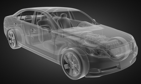 transparent car concept made in 3D graphics Stock Photo - 12602377