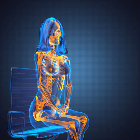 cute woman radiography made in 3D graphics Stock Photo - 12602382
